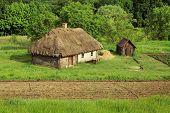 Summer Landscape - Old Ukrainian Architecture In The Vitachev Village
