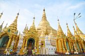 RANGOON MYANMAR - 11 October 2013 : Shwedagon Pagoda in Rangoon