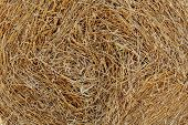 Closeup of a haystack for rural background