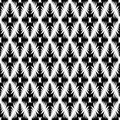 Design Seamless Monochrome Geometric Diamond Pattern