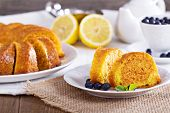 Lemon marble bundt cake