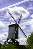 The Bonne Chiere windmill on the dike of Bruges