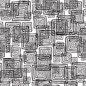 Rectangular Seamless Pattern In Black And White