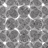 Target Seamless Pattern In Black And White