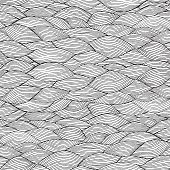 Waves Seamless Pattern In Black And White