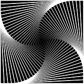 Design Monochrome Swirl Movement Square Geometric Background