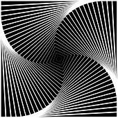 Design Monochrome Swirl Movement Square Geometric Background