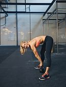 Fit Young Woman Doing Crossfit Workout