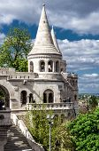Budapest, Hungary-april 15, 2014: View Of Fisherman's Bastion, Is One Of The Most-visited Attraction
