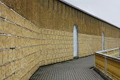 Embankment And Wall With Trim Tile