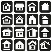 picture of premises  - white icons in black rectangles with theme of house - JPG