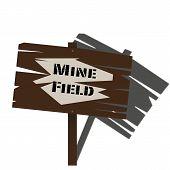 Mine Field Sign