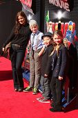 LOS ANGELES - FEB 1:  Marcia Gay Hardin, her children, and Albert Tsai at the