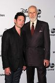 LOS ANGELES - MAY 19:  Henry Thomas, James Cromwell at the Disney Media Networks International Upfro