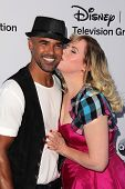 LOS ANGELES - MAY 19:  Shemar Moore, Kirsten Vangsness at the Disney Media Networks International Up