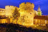 Belgrade fortress at night