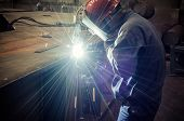 Work a welding workers in factories