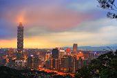 Skyline of Xinyi District in Taipei