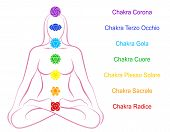 Chakras Woman Description Italian