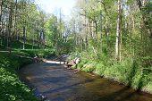 River Ratny?ia in Druskininkai. Lithuania