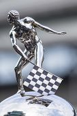 indianapolis, IN - May 17, 2014:  The Borg-Warner Trophy sits on pit road before qualifying starts for the Indianapolis 500 at Indianapolis Motor Speedway in indianapolis, IN.