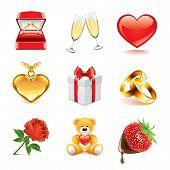 Romantic Icons Photo-realistic Vector Set