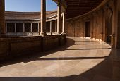 Courtyard In The Palace Of Karl V, Alhambra