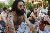 7Th World Naked Bike Ride In Thessaloniki, Greece
