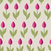 Tulips Seamless Background