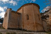 image of templar  - templar romanesque chapel of San Bartolome in the Lobos river canyon Spain - JPG
