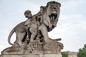 Sculpture Located On The Alexander Iii Bridge In Paris, France