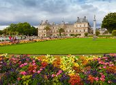 Luxembourg Garden, With Luxembourg Palace Facade, Paris