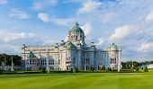 stock photo of throne  - Ananta Samakhom Throne Hall In Dusit Palace - JPG