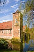 Renaissance Castle Burg Huelshoff, Muensterland, Europe.