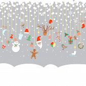 New Year And Christmas Garland