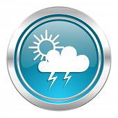 storm icon, waether forecast sign  poster