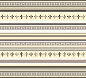 Fleur De Lis Pattern In Yellow,white And Brown