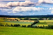 Colorful summer landscape near Kassel, Germany