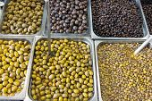 Selection of olives