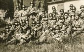 SOCZEWKA, POLAND, CIRCA SIXTIES: Young soldiers rest during a military training