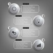 Info Graphic Gray Round Element Template