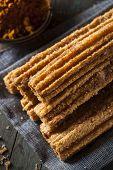 image of churros  - Homemade Deep Fried Churros with Cinnamon and Sugar - JPG