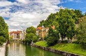 The Ljubljanica River In Ljubljana - Slovenia