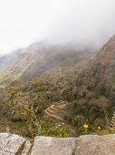 Incan Ruin In The Mist