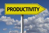 Creative sign with the message - Productivity