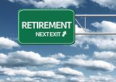 Creative sign with the text - Retirement, Next Exit