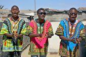 young men street singer in Mondesa slum