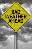 Creative sign with the message - Bad Weather Ahead
