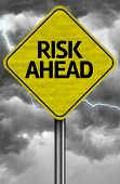 Creative sign with the message - Risk Ahead