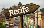 Recife wooden sign, Brazil